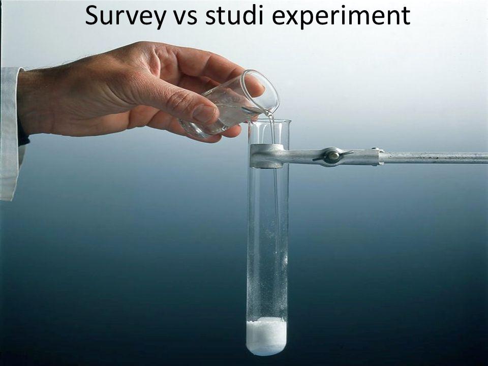 Survey vs studi experiment