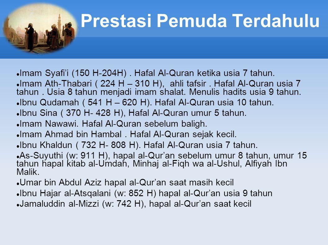Prestasi Pemuda Terdahulu Imam Syafi'i (150 H-204H).