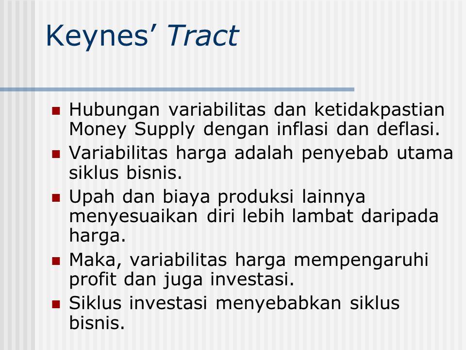 Keynes' Treatise on Money Elemen-elemen awal General Theory.