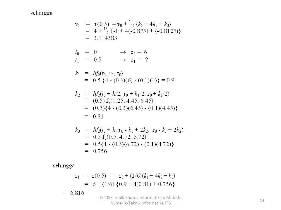 Persamaan Diferensial Orde Lanjut Persamaan differensial orde lanjut adalah persaman diferensial dengan orde yang lebih besar dari satu.