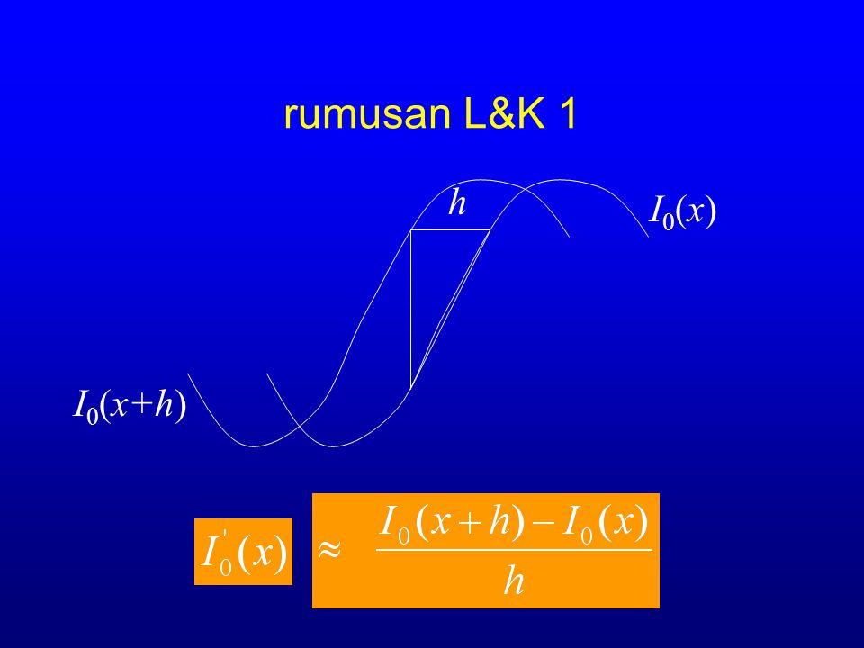 rumusan L&K 1 I0(x)I0(x)