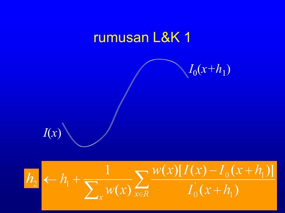 I 0 (x+h 0 ) I(x)I(x)