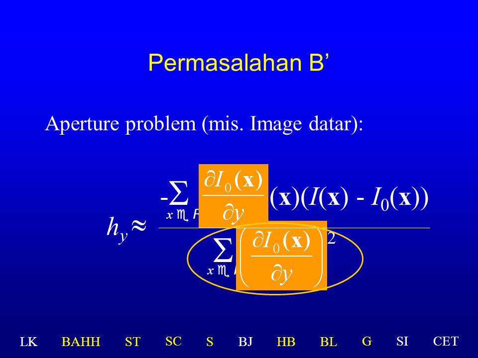 Permasalahan B Zero gradient: ?