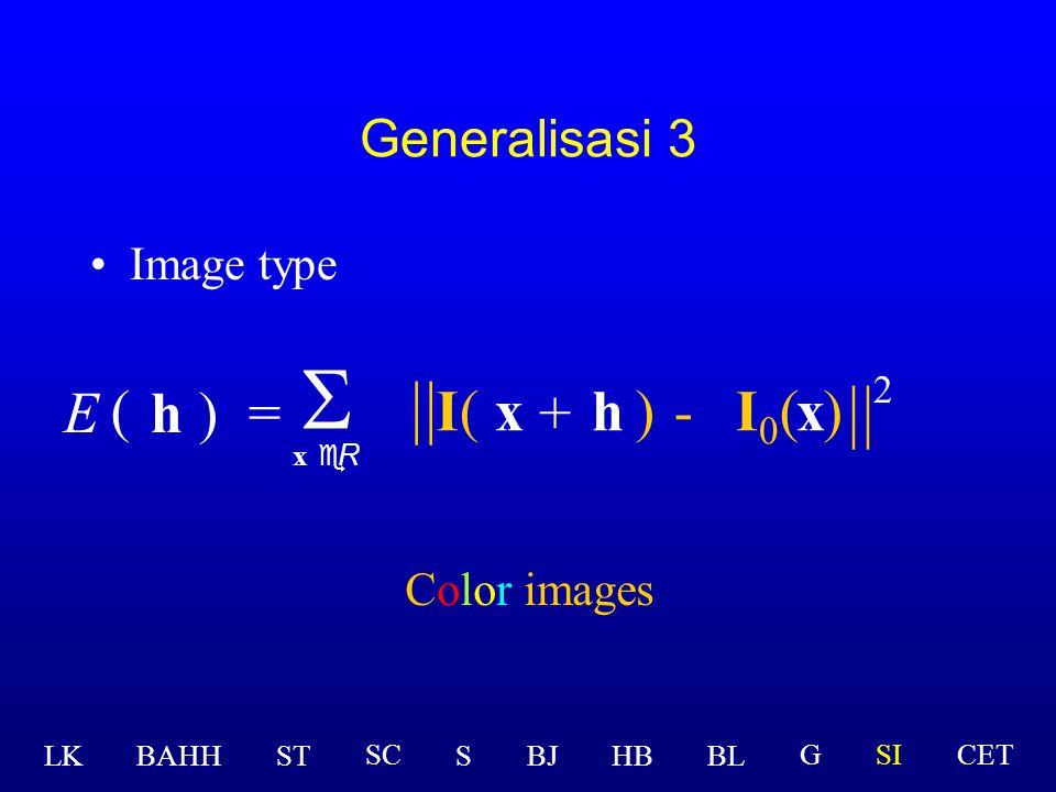 Rumus Original Image type h)=  x eR ( E [ I(x )-(x ] 2 ) + h Grayscale images  I  LK BAHHSTSBJHBBL GSICETSC