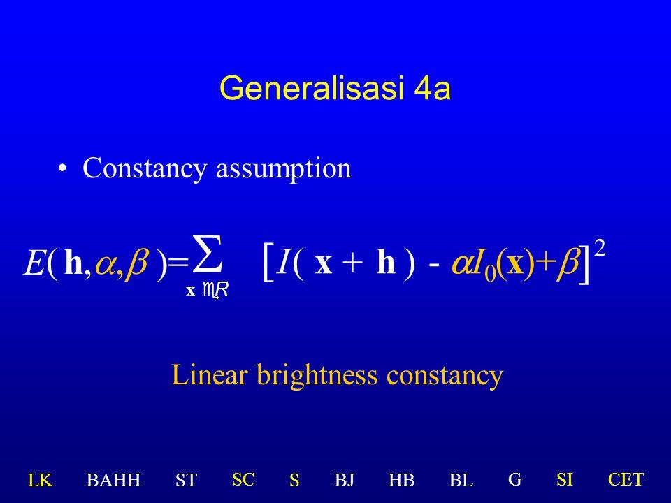 Permasalahan C Bagaimana bila iluminasi cahaya bervariasi?