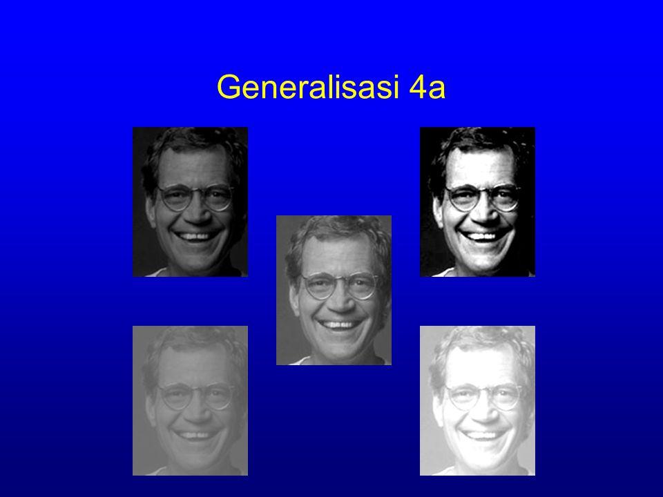 Generalisasi 4a Constancy assumption h,h, )=  x eR ( E [ I(x )- II (x ] 2 )+  + h Linear brightness constancy LK BAHHSTSBJHBBL GSICETSC