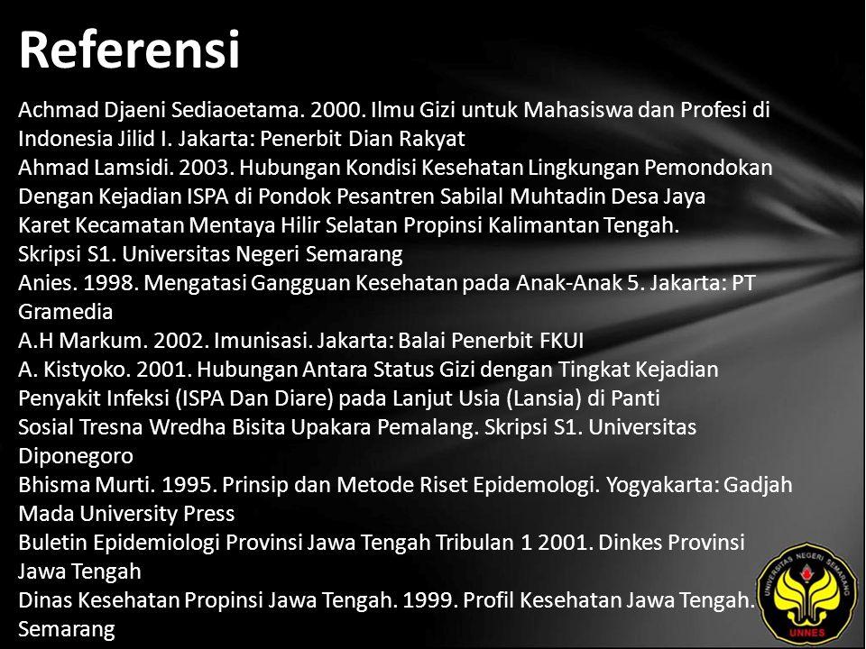 Referensi Achmad Djaeni Sediaoetama. 2000.