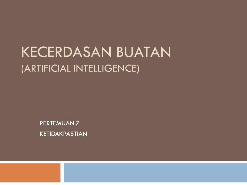 Bahasan  Review Probabilistic dan kompleksitas  Independence = efficiency  Pendahuluan Ketidakpastian  Teorema Bayes  Ringkasan