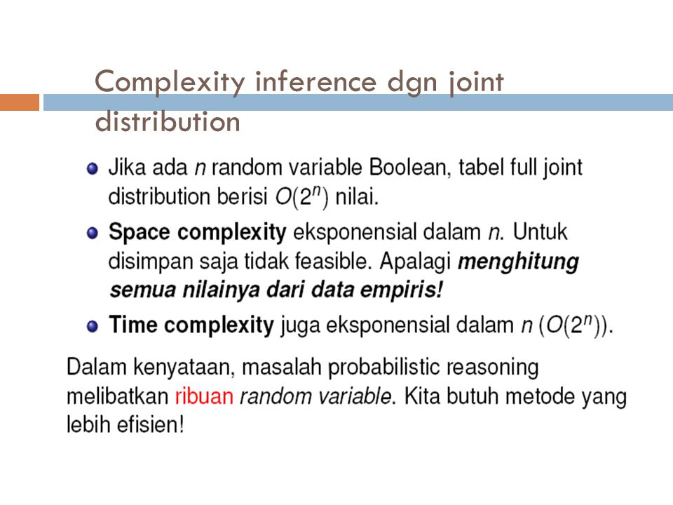 Complexity inference dgn joint distribution