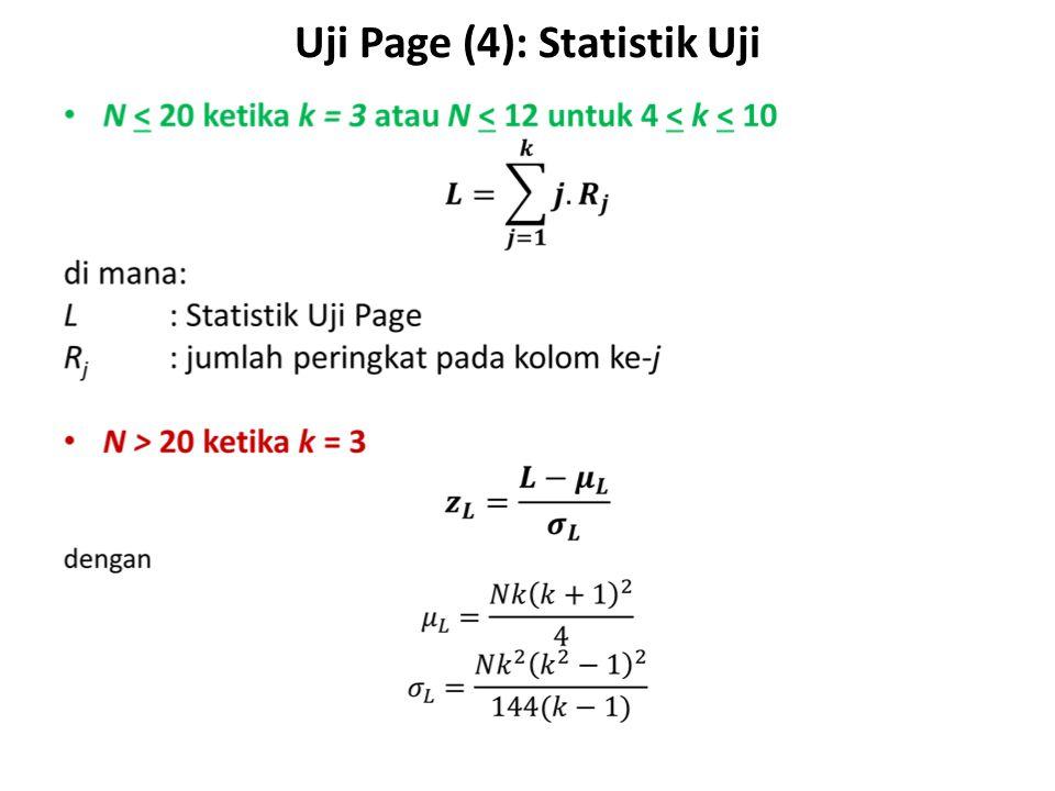 Uji Page (4): Statistik Uji S