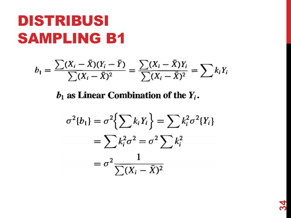 DISTRIBUSI SAMPLING B1 34
