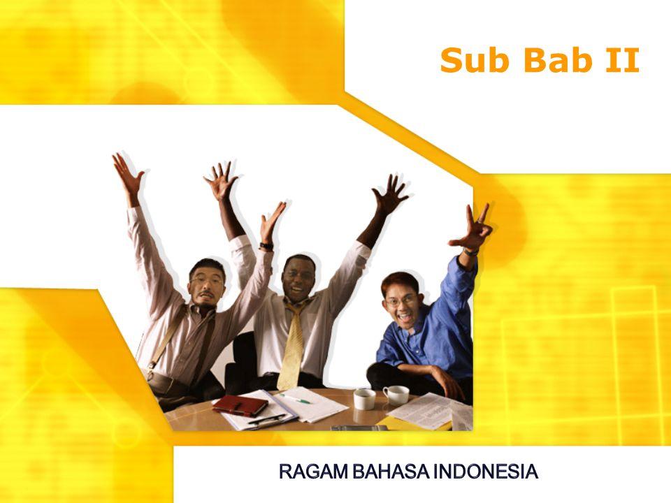 Sub Bab II