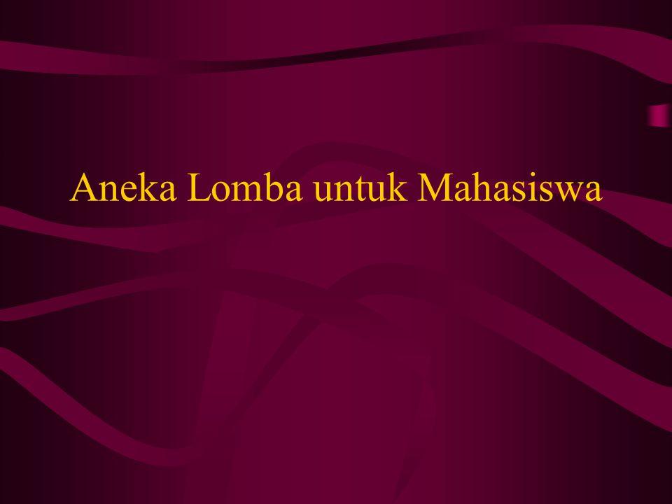 Aneka Lomba untuk Mahasiswa