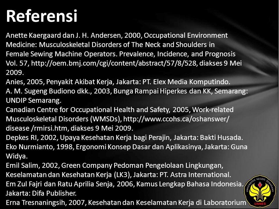 Referensi Anette Kaergaard dan J. H.