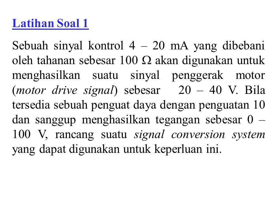 Contoh Soal 4.7 Suatu equal percentage valve mempunyai debit maksimum sebesar 50 m 3 /s dan debit minimum sebesar 2 m 3 /s.