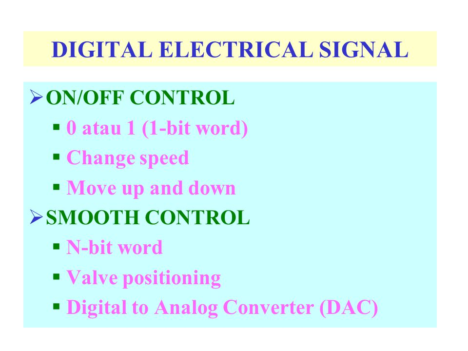 SOLENOID Electrical signal  Translational movement