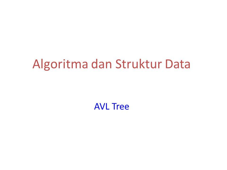 Algoritma dan Struktur Data AVL Tree