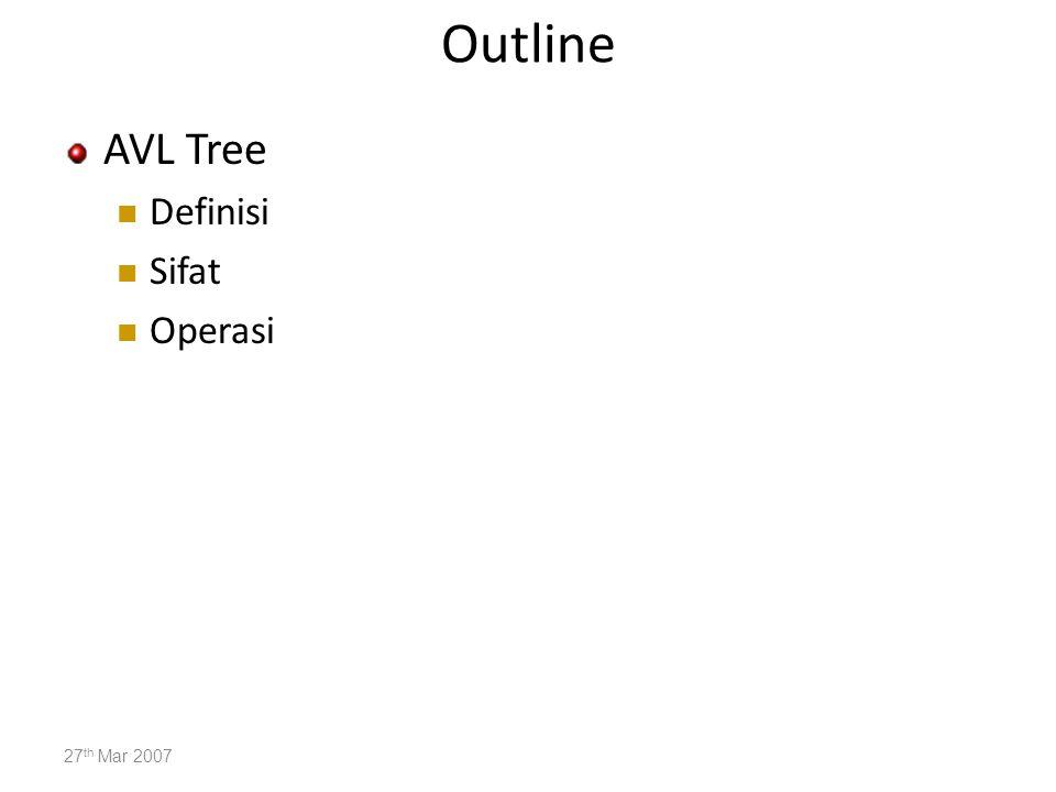 AVL Tree Binary Search Trees yang tidak imbang memiliki efisiensi yang buruk.