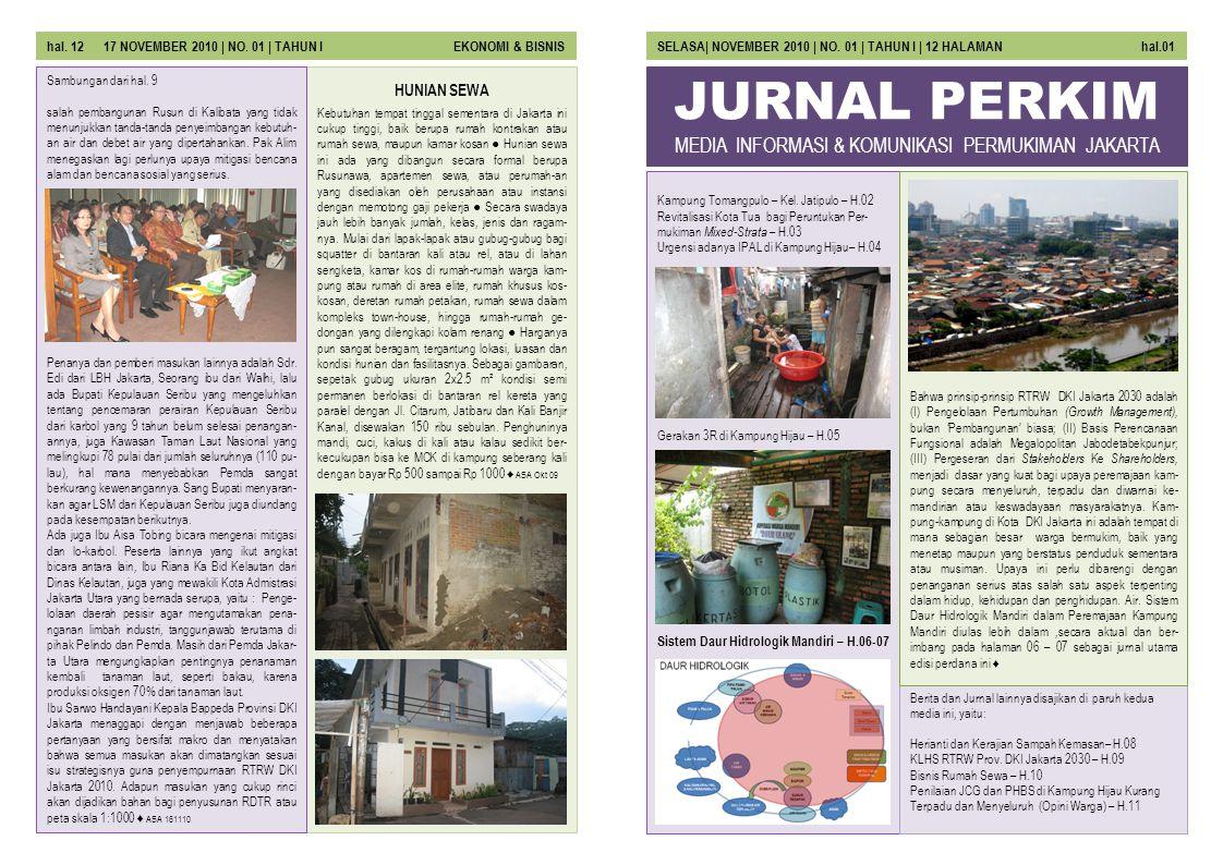 JURNAL PERKIM Kampung Tomangpulo – Kel. Jatipulo – H.02 Revitalisasi Kota Tua bagi Peruntukan Per- mukiman Mixed-Strata – H.03 Urgensi adanya IPAL di