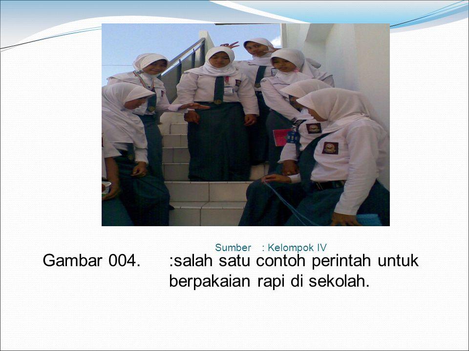 Contoh Order, antara lain : Perintah untuk melaksanakan kerja bakti di sekolah pada hari jum'at. Perintah untuk berpakaian lengkap bagi siswa di sekol