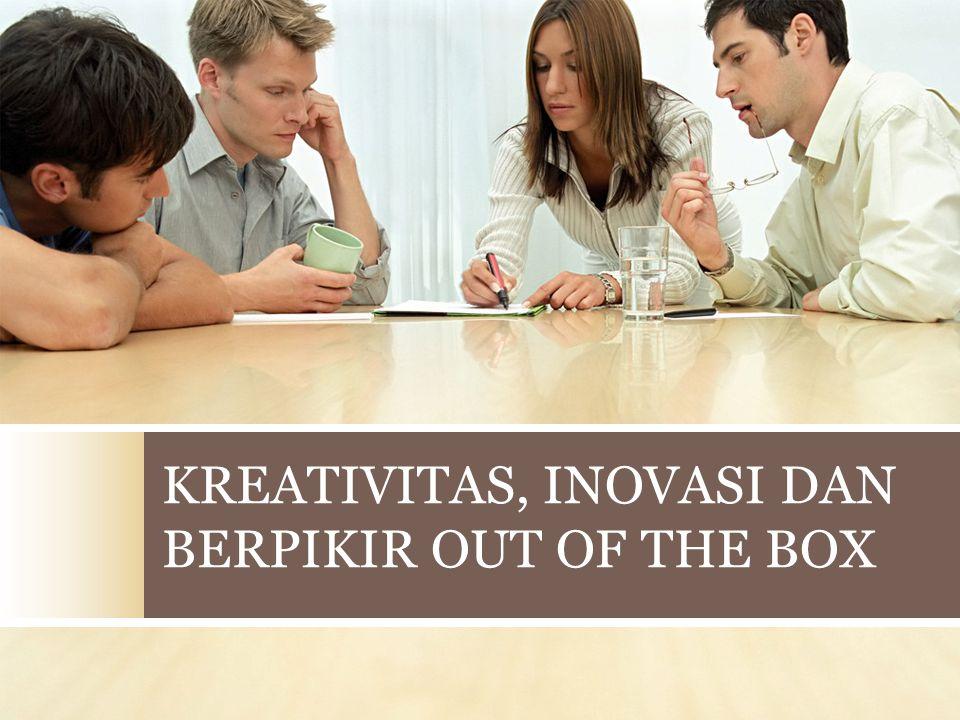  Creative Thinking = kemampuan untuk menemukan gagasan bisnis yang baru.