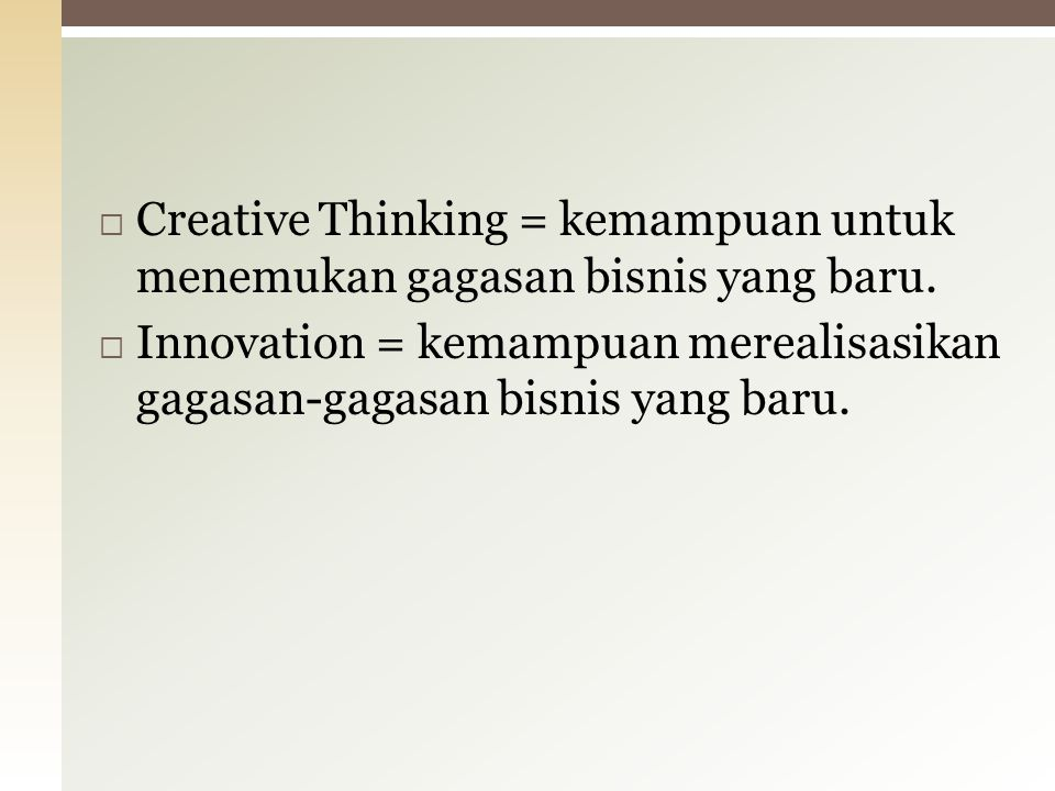 CREATIVE THINKING V = V V = VIIVI = XIXII = VII VI = II