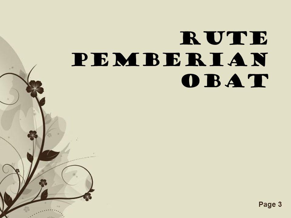 Free Powerpoint TemplatesPage 3 RUTE PEMBERIAN OBAT