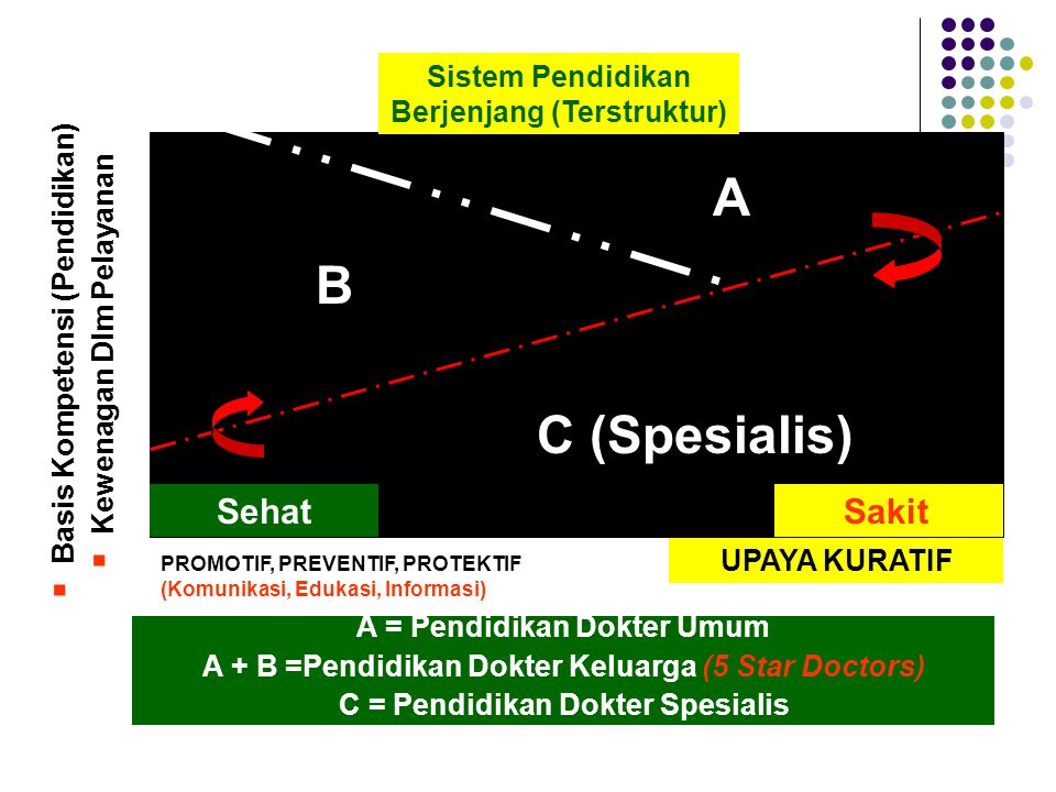 A = KIPDI II A + B = KIPDI III (5 Stars Doctors) Kurikulum