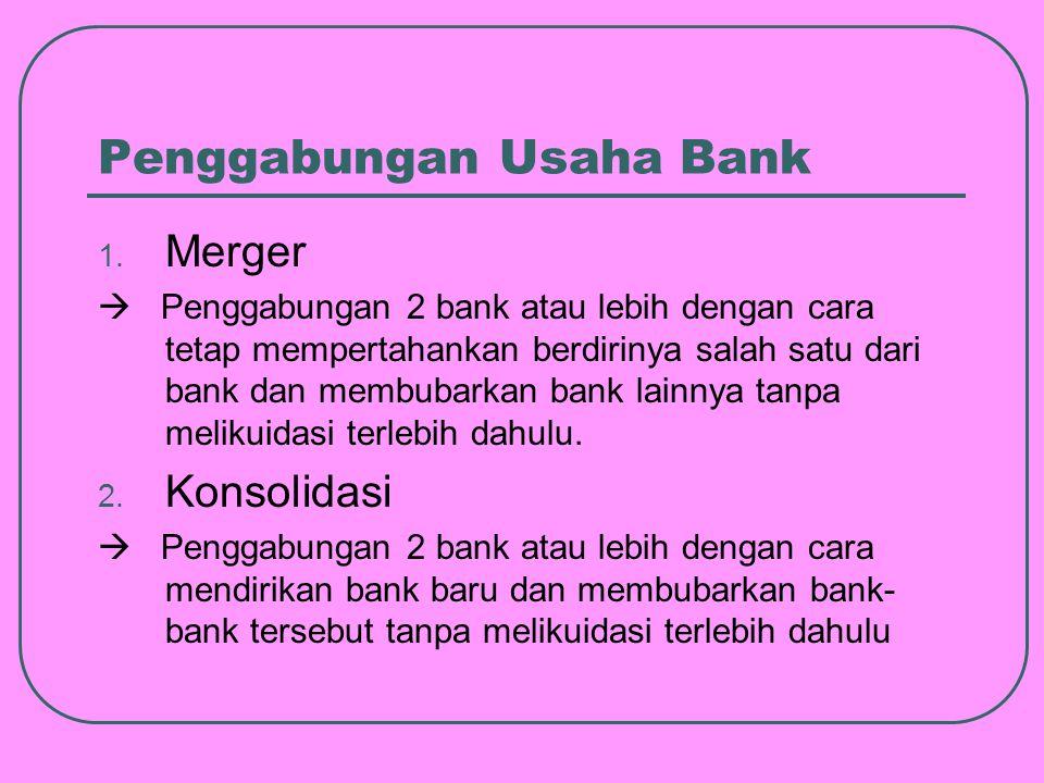 Penggabungan Usaha Bank 1.