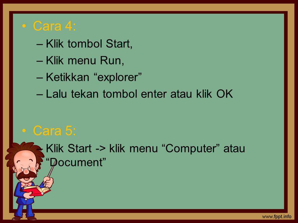 Tampilan Windows Explorer