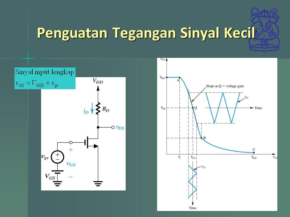 Penguatan Tegangan Sinyal Kecil