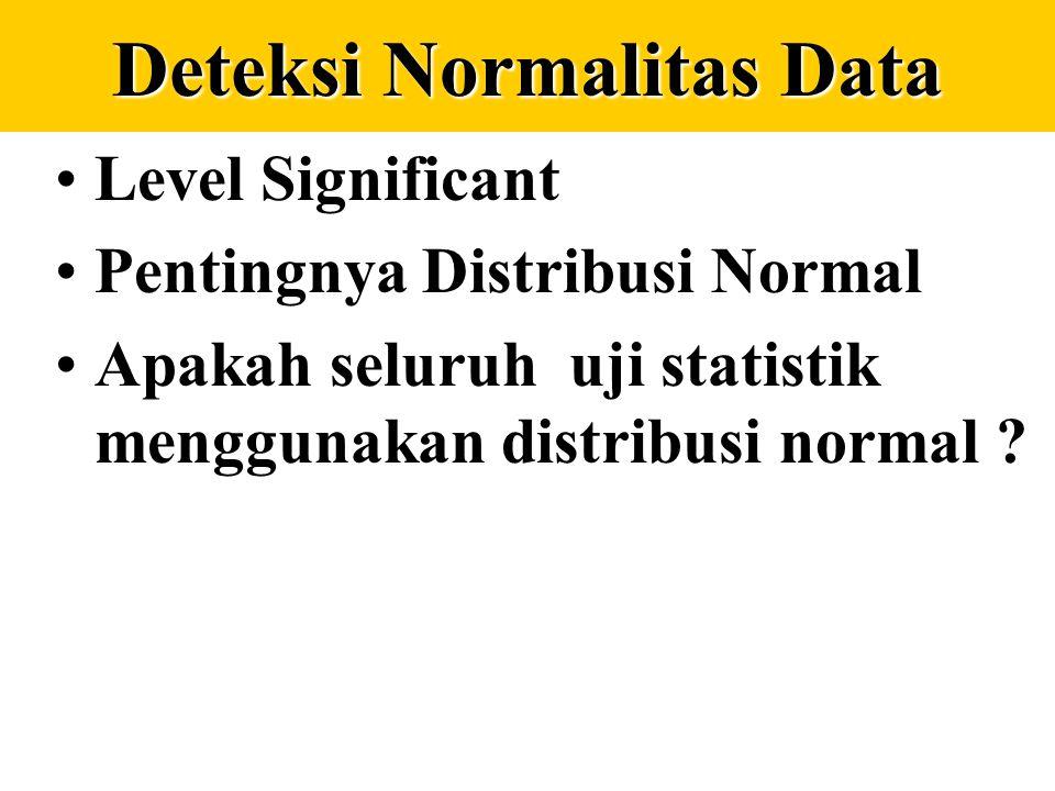 Memilih rata-rata dalam distribusi frekuensi Tingkat kemenjuluran yang sangat tinggi, jangan gunakan rata-rata hitung Dispersi yang besar (datanya men