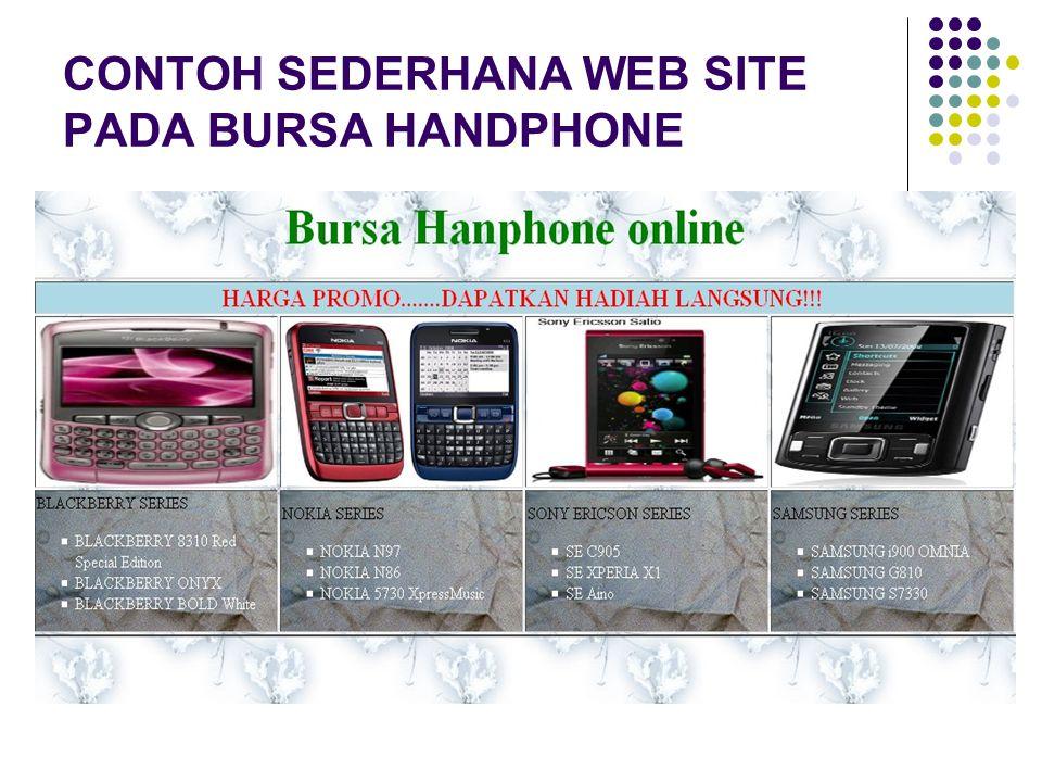 CONTOH SEDERHANA WEB SITE PADA BURSA HANDPHONE