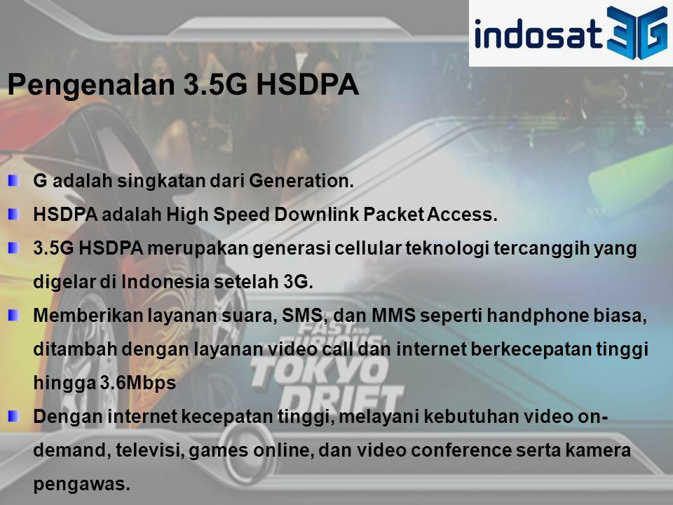 Pengenalan 3.5G HSDPA G adalah singkatan dari Generation.