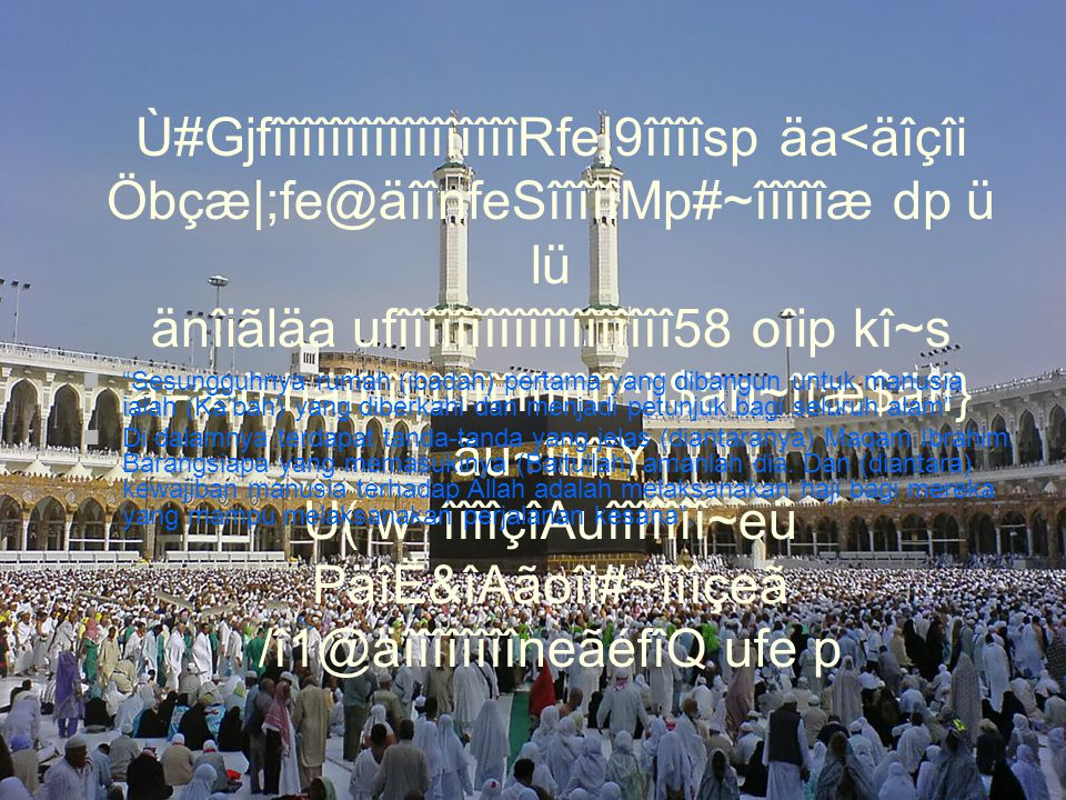 8 Dzulhijah ( Tarwiyah) Niat memakai ihram untuk Haji/Umrah : Sebelumnya disunnahkan mandi wajib (boleh memakai sabun, shampoo dan parfum) Setelah berihram disunnahkan shalat sunnah 2 rakaat Berangkat menuju Arafah setelah Dhuhur (Dhuhur – Asyar dijamak Qashar Taqdim) Bermalam di Arafah (Ihram masih dipakai) äîîîî.î1 ktîîfeã cî~çîe Õ=îjîîîQ ktîîfeã cî~çîe