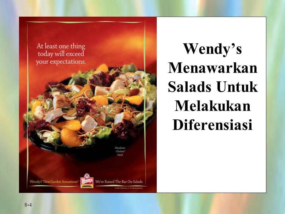 8-4 Wendy's Menawarkan Salads Untuk Melakukan Diferensiasi