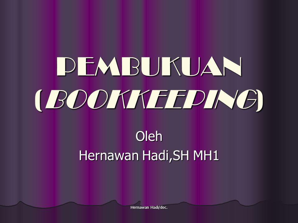 Hernawan Hadi/doc.Kewajiban Perusahaan Menyelenggarakan Pembukuan(Pasal 6 KUHD).