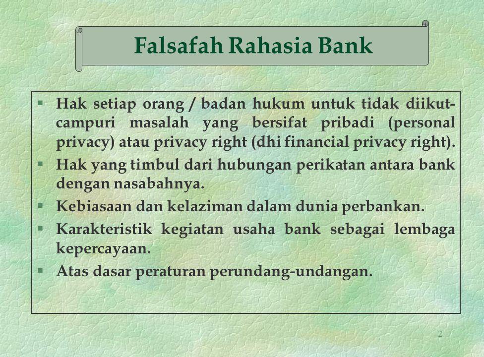 23 PIHAK-PIHAK YANG DIWAJIBKAN ATAS RAHASIA BANK : 1.