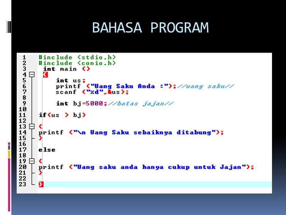BAHASA PROGRAM
