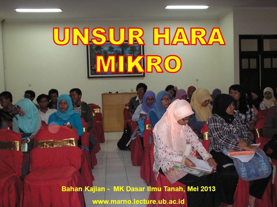 Bahan Kajian - MK Dasar Ilmu Tanah, Mei 2013 www.marno.lecture.ub.ac.id