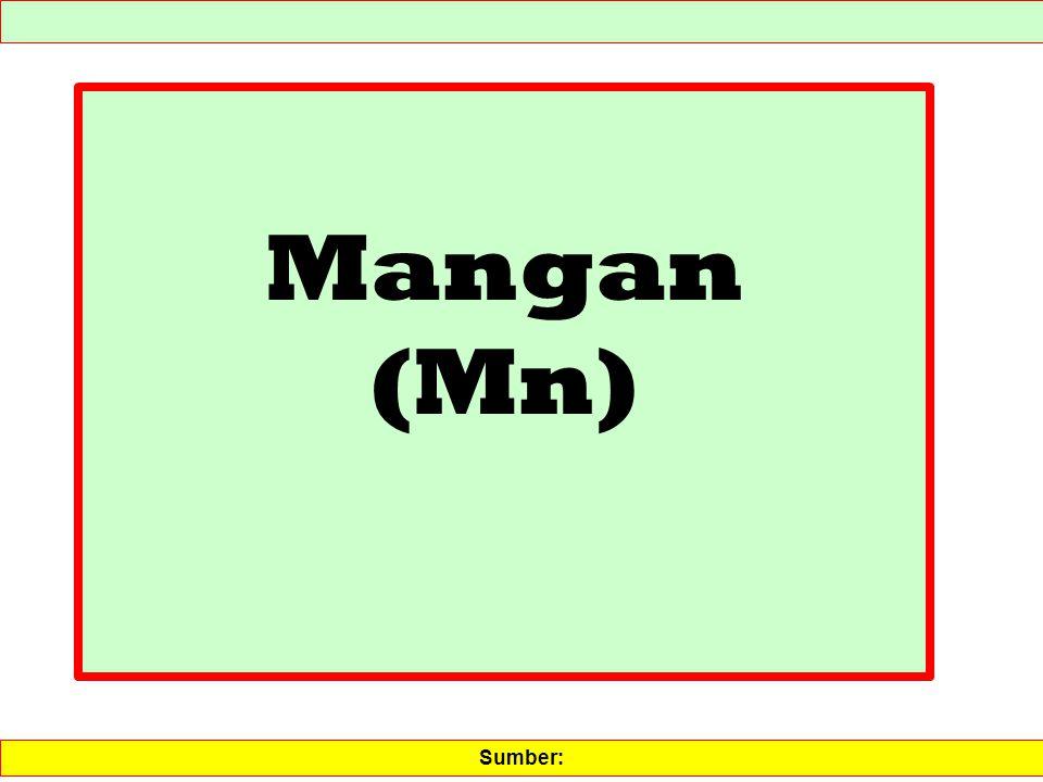 Mangan (Mn) Sumber: