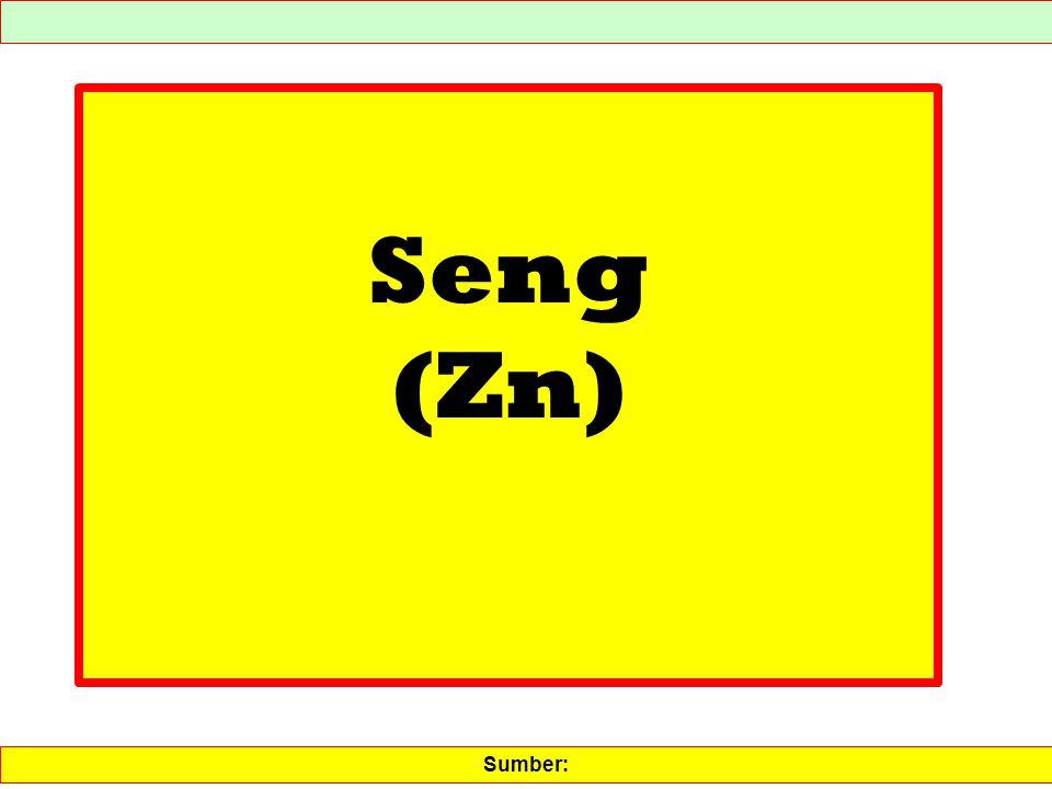 Seng (Zn) Sumber: