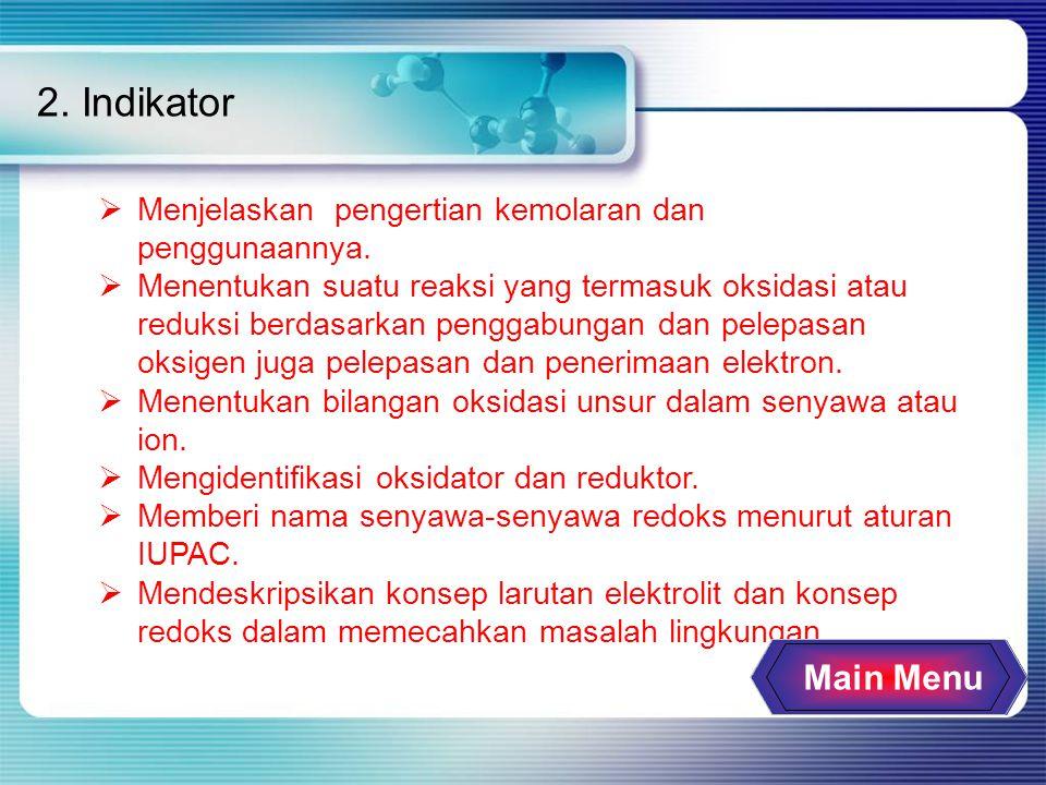 2. Indikator  Menjelaskan pengertian kemolaran dan penggunaannya.