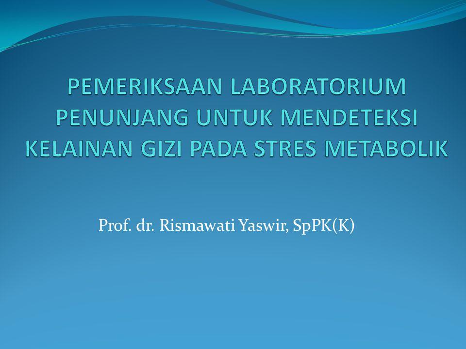 Prof. dr. Rismawati Yaswir, SpPK(K)