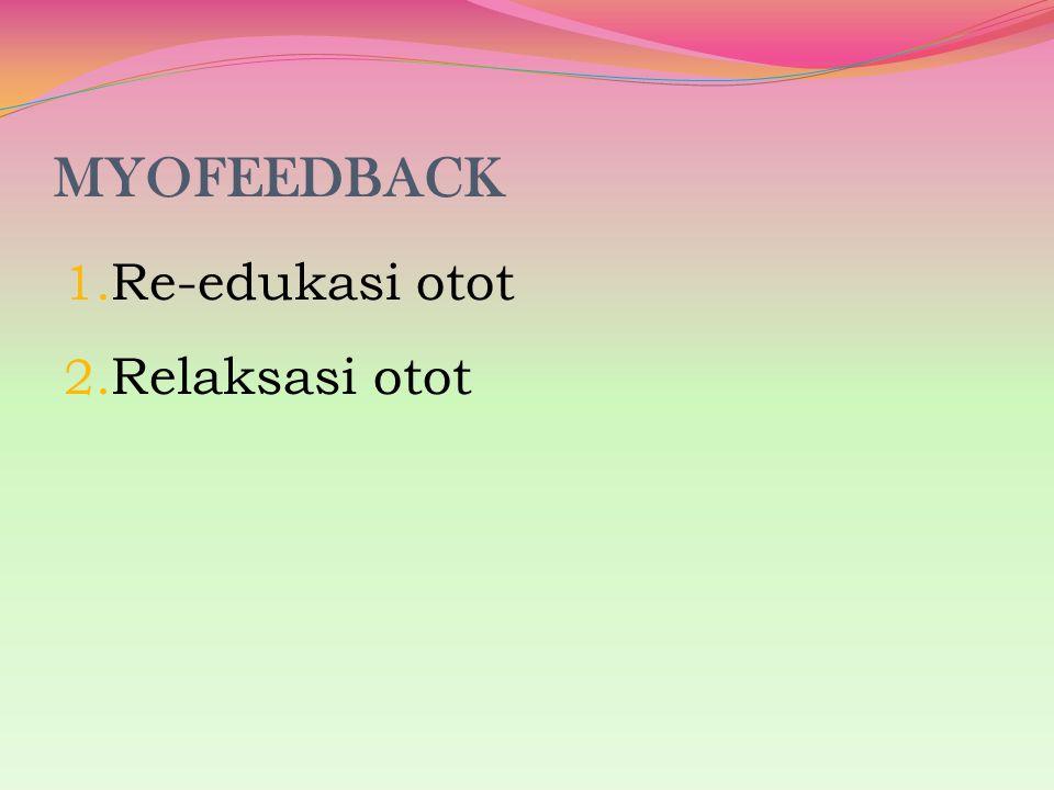 MYOFEEDBACK 1. Re-edukasi otot 2. Relaksasi otot