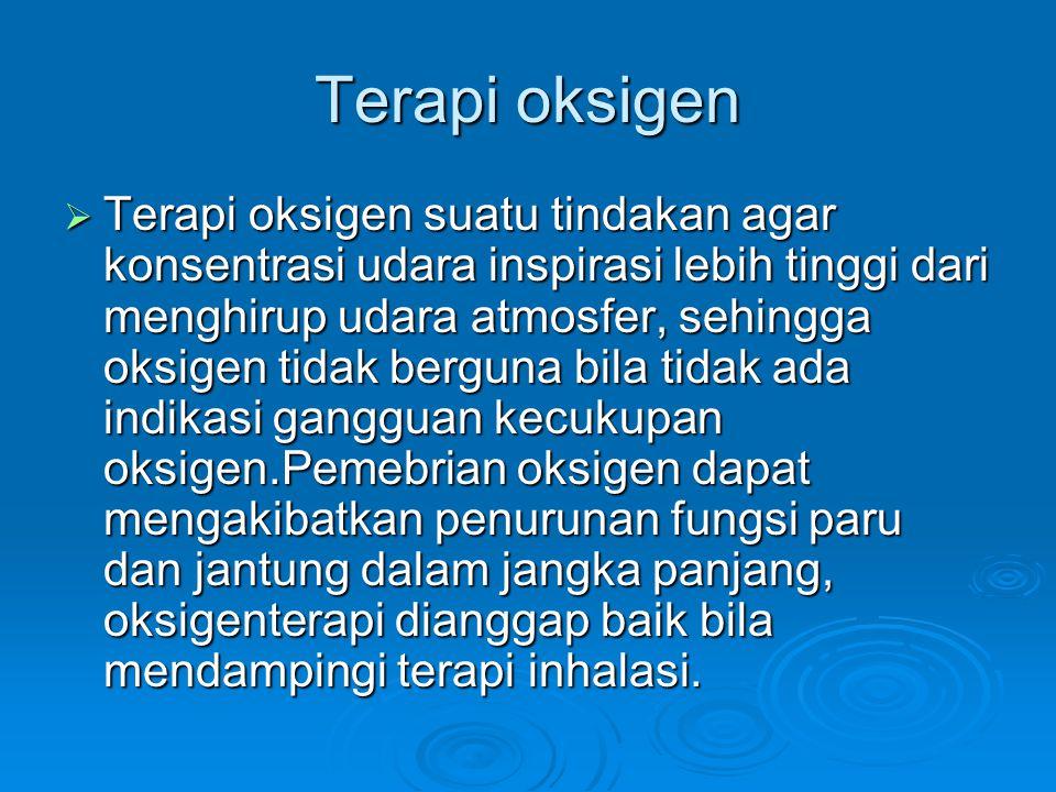 Indikasi terapi oksigen.