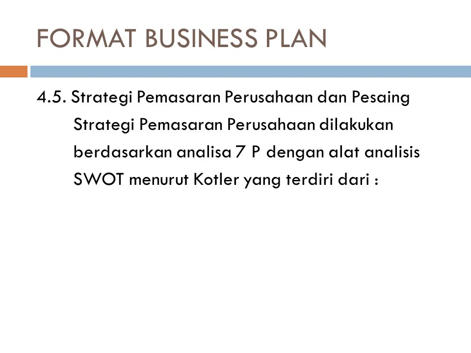 FORMAT BUSINESS PLAN 4.5.