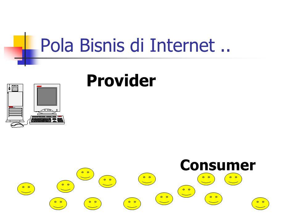 Pola Bisnis di Internet.. Provider Consumer