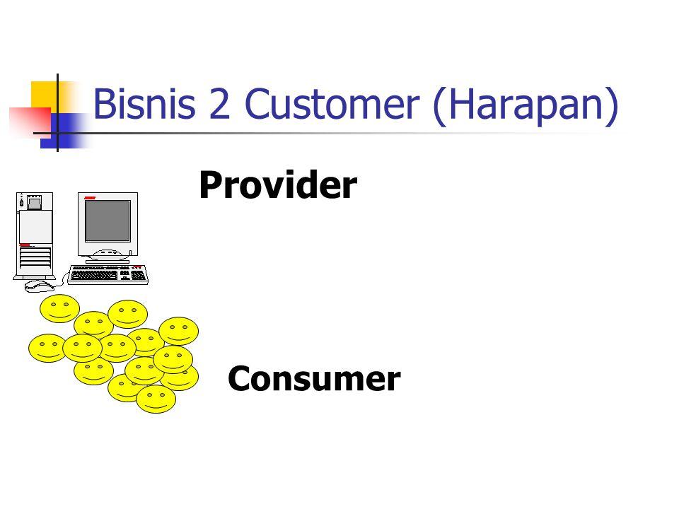 Bisnis 2 Customer (Harapan) Provider Consumer