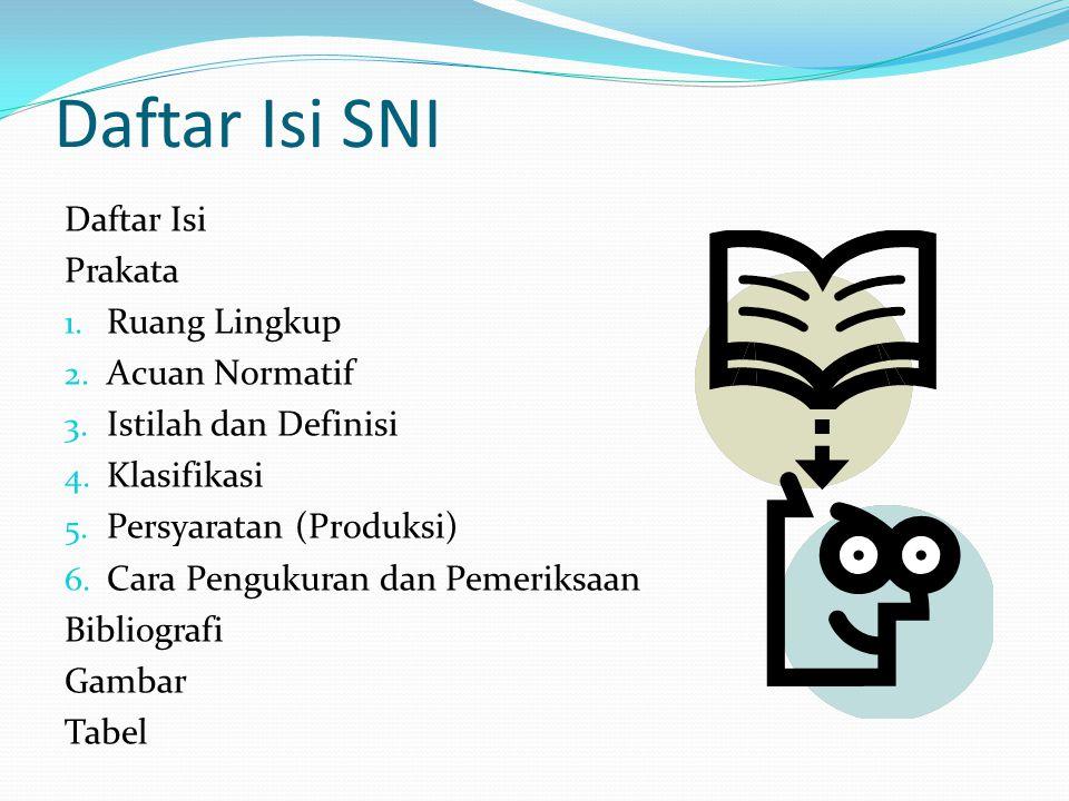 Daftar Isi SNI Daftar Isi Prakata 1.Ruang Lingkup 2.